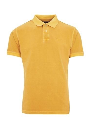 Barbour Washed Sports Polo Yaka Ye71 Mustard Sarı